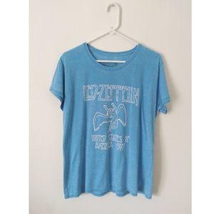 Led-Zeppelin Blue Band T-Shirt